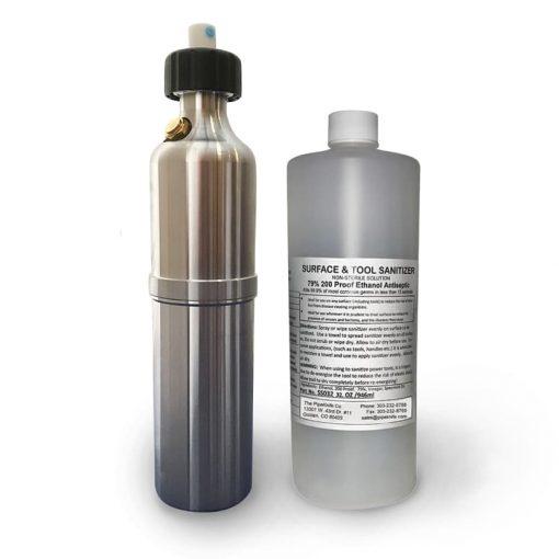 Pressurized Spray Bottle with Surface Sanitizer